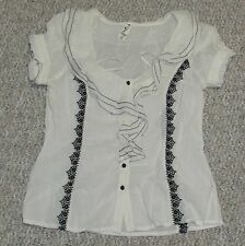 ASO Alice Cullen Anthropologie Floreat Weather Meeting Top size 8