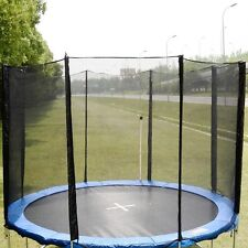 12FT Round Trampoline Enclosure Safety Net Fence Replacement W/Sleeves 8 Po