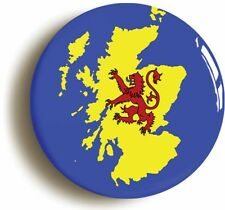 SCOTLAND BADGE BUTTON PIN (Size is 1inch/25mm diameter) SCOTTISH FLAG MAP