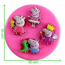 Peppa Pig Fairy Princess Silicone Mould by Fairie Blessings
