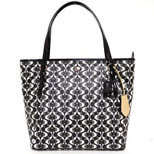 $328 NWT Coach Peyton Dream C Zip Top Tote Bag 27350 Silver/Black/White/Black