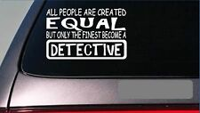"Detective equal Sticker *G638* 8"" vinyl police cop swat squad car new york cops"
