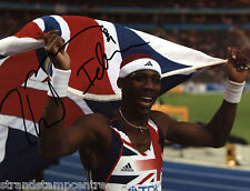 "Philips Idowu Colour 10""x 8"" Signed Berlin Championships Win Photo - UACC RD223"