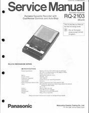 Panasonic Service Manual für RQ-2103