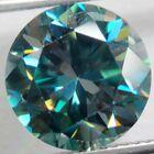 Genuine 1.50 carat 7.25 mm VS1 dark blue loose moissanite round brilliant cut