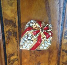 Vintage! Christmas Gift Brooch Spilla Dono Di Natale