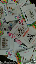 Lot Of 10  Different packets - BINDIS / Temporary Tattos - NEW STOCK - FREE SHIP