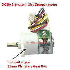 DC 5v 6v 2-phase 4-wire Stepper motor full metal gear box precision geared motor