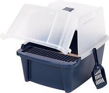 Covered Cat Litter Box With Lid Scoop Cleaning Grate Kit Cats Pet Box Durable