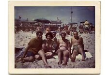 ANTIQUE COLOR POLAROID OF PEOPLE ON BEACH MAYBE FROM PGH/CONNIES PHOTO ALBUM