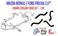 MAZDA BONGO 2.5TD 1995 - 2006  MAZDA 4 PIECE  COOLANT HOSE SET(183/184/185/186)