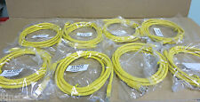 8 x Cat6 UTP 24 AWG Flush Moulded Patch Lead Yellow 2m - Product Code: 60 5020
