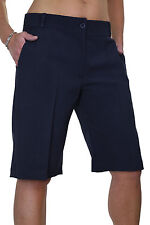 NEW (1492) Ladies Smart Washable Day Evening Tailored Shorts Black 8-22