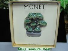 "Very Rare MONET ""BONSAI TREE"" Collectible Enamel Keepsake Trinket Box ** NIB **"
