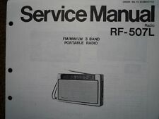 NATIONAL PANASONIC RF-507L Portable Radio Service manual wiring parts diagram