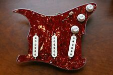 New Fender Prewired Loaded Strat Pickguard Custom Shop Abby 69 Tortoise Brown
