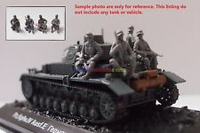 New Caesar 1/72 WWII German Soldier Tank Riders 4pc Army Men Figures Toy Soldier
