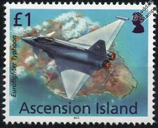 RAF EUROFIGHTER TYPHOON EF2000 Fighter Aircraft Stamp (2013 Ascension Island)
