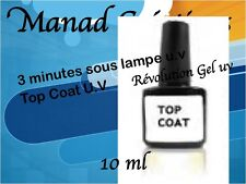 Professional Varnish / polish semi Permanent Top coat 10 ml - Nail art gel uv