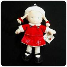 New/NWT~CARTERS~1ST FIRST CHRISTMAS~RED~PLUSH~BLOND BABY DOLL~GIRLS TOY~NEWBORN+