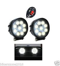 2PCS Car Round 9 Led 27w Auxiliary Lamp Fog Lights Drl For Tata Indigo ECS