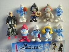 THE SMURFS 2 MOVIE 3D PEYO 2013 - KINDER SURPRISE FIGURES SET FIGURINES