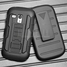 For Samsung Galaxy Shockproof Rugged Hybrid Rubber Hard Phone Cover Case + Clip