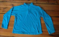LL Bean Fleece Half Zip Collar Royal Blue Pullover Sweatshirt Womens L-Reg