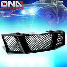 FOR 08-15 NISSAN TITAN BLACK ABS FRONT BUMPER/HOOD UPPER MESH GRILL GRILLE GUARD