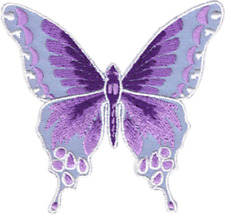 9954 Lavender Purple Butterfly Wings Garden Insect Embroidered Sew Iron On Patch