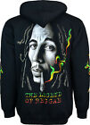 Bob Marley With Cigarette Fleece Hooded Jacket Front And Back Printing