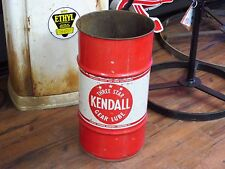 Vintage  Kendall Oil drum  Gear Lube Great for shop trash can