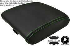 GREEN STITCH ARMREST LID GENUINE LEATHER COVER FITS HYUNDAI TERRACAN 2001-2006
