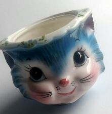 Lefton Miss Priss Kitty Cat Sugar Bowl 1508 w/ Label Replacement Piece No Lid