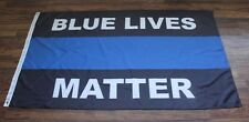 New Police Lives Matter Thin Blue Line Flag  3'  5' cop cops military support