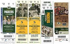 LATE 2000s @ GREEN BAY PACKERS FULL TICKET STUB - VARIOUS - ONE TICKET