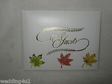 Wedding ~Any Event~  Party Lodge Hunting fishing Camp Guest Book ~ Fall Leaves~