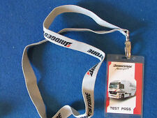 Formula One - F1 -  Bridgestone Motorsport - Test Pass & Lanyard -Barcelona 2004