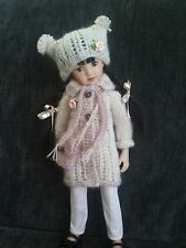 """Handknitted outfit for dolls 13"""" Dianna Effner Little Darling,Betsy McCall,MARU"""