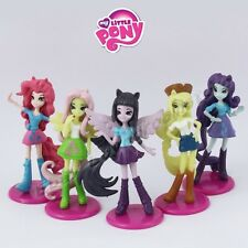 Set of 5 pcs Mini My Little Pony Girls Pegasus Apple Jack 6cm PVC Figure Loose
