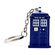 Official Doctor Who Tardis Keyring LED Torch - BBC Light Up Police Box Keychain