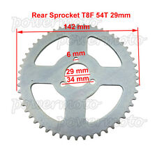 T8F 54 Tooth Rear Chain Sprocket For 47 49cc Pocket Bike Mini Moto Pit Quad ATV