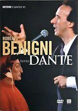Roberto Benigni Tutto Dante Canto VI n 6 Inferno  Dvd Sigillato Editoriale