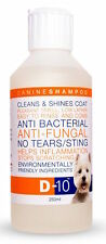 D-10 Dog Shampoo: Anti-Fungal/Bacterial, 'No Tears', Gives a Healthy, Shiny coat