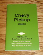 1980 Chevrolet Pickup Gasoline Owners Operators Manual 80 Chevy