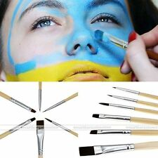 6pc Face Painting Brushes Makeup Drawing Theater Football Stage Party Games Kit