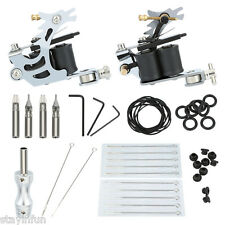 Mini Tattoo Kit Liner Machine Gun Needle Grips Tools Accessories