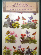 Everyday Memories Butterflies Rub-On Transfers Decal