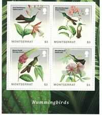 Montserrat - Birds, Hummingbirds, 2014 - Sheetlet of 4 MNH
