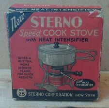 Vintage Sterno Speed Cook Solid Fuel Camp Stove No25
